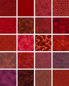 10 Red Tonal Fat Quarter Collection  (2 1/2 Yards)