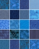10 Blue Tonal Fat Quarter Collection (2 1/2 YARDS)