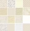 10 Cream/White Tonal Fat Quarter Collection (2 1/2 Yards)