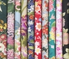 10 Multicolor Asian Fat Quarters with Gold/Silver Metallic (2 1/2 Yds)