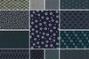 13 Kasuri Indigo and Navy Blue Fat Quarter Bundle - 3 1/4 Yds