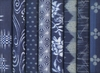 7 Indigo Blue Fat Quarters: 1 3/4 Yards