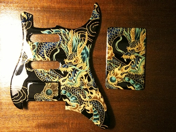 Achilles D'Fang Pickguards by Peter in Mico, TX