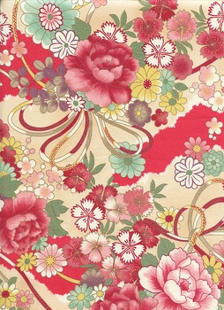 Asian Beauty: Floral Landscape in Cream
