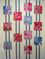 "Asian Fabric Charm Pack in Multi-Colors: Set of 40 - 5"" x 5"""