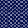 AVALON: Dotted Blocks - Indigo/White