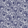 AVALON: Mums - Indigo Blue & White (1/2 Yd.)
