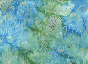 BATIK - Seashells: Teal, Moss Green