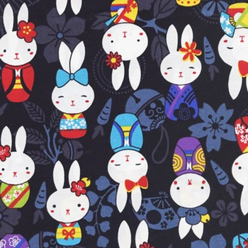 BUNNIES IN KIMONOS: Black