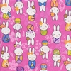 BUNNIES IN KIMONOS: Pink (By the Half Yd)