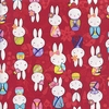 BUNNIES IN KIMONOS: Red (By the Half Yd)