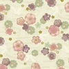 CELEBRATION: Flowers Adrift - Cream/Gold (1/2 Yd.)