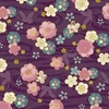 CELEBRATION: Flowers Adrift - Purple/Gold (1/2 Yd.)