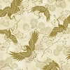 CELEBRATION: Golden Cranes - Cream/Gold (1/2 Yd.)