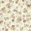 CELEBRATION: Pretty Little Blossoms - Cream/Gold (1/2 Yd.)