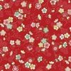 CELEBRATION: Pretty Little Blossoms - Red/Gold (1/2 Yd.)
