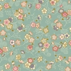 CELEBRATION: Pretty Little Blossoms - Teal/Gold (1/2 Yd.)