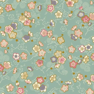 CELEBRATION: Pretty Little Blossoms - Teal/Gold