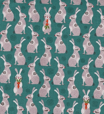 Charming Bunnies: Teal & Mauve