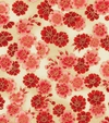 Cherry Blossoms: Red/Gold Metallic (By the Half Yard)
