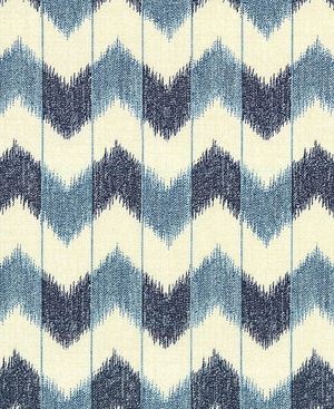 CHEVRON: Cream/Indigo