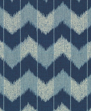 CHEVRON: Indigo/Cream