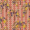 CHIYOGAMI: Cherry Trees - Red/Gold Metallic (1/2 Yd)