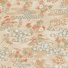 CHIYOGAMI: Patterned Brook - Ivory/Gold Metallic (1/2 Yd)