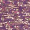 CHIYOGAMI: Patterned Brook - Purple/Gold Metallic (1/2 Yd)