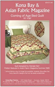 """""""COMING OF AGE BED QUILT"""" Kona Bay Pattern #08"""