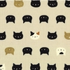 NEKO 2 by Quilt Gate:  Kitten Faces - Cream