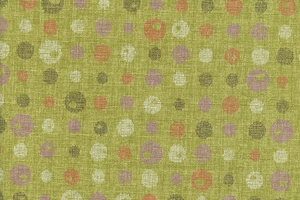 Contrasting Dots on Lime Green: Light Weight Cotton Dobby (1/2 yd)