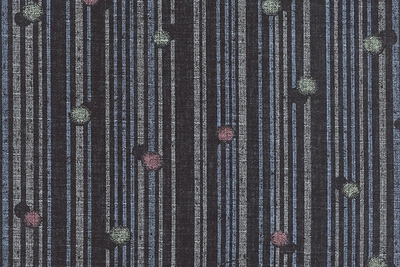 Dots and Stripes: Black Light Weight Cotton Dobby