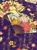 DECORATIVE ASIAN FANS: Purple (1/2 Yd.)