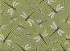 DRAGONFLIES: Moss Green (1/2 Yd)