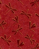 DRAGONFLY FOSSILS: Red (1/2 Yd.)