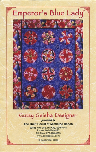"""'EMPEROR'S BLUE LADY' Quilt Pattern (55"""" x 67"""")"""