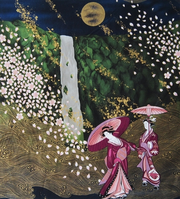 Ethereal Geisha Landscape: Panel (22 Inches x 24 Inches)