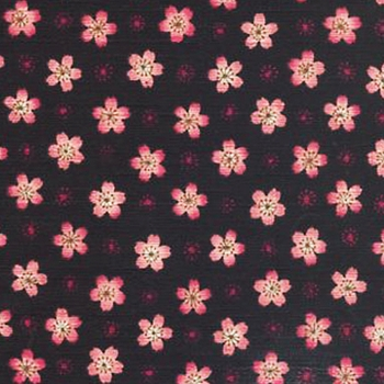 Floating Cherry Blossoms: Black