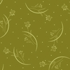 Flower Stems on Dotted Background: Olive Green