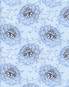 Flowers on a Vine I - Blue (BTY) - 45% OFF