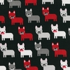 FRENCH BULLDOGS by R. Kaufman (1/2 Yd)