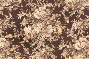 Gentle Flowers: Floral Bouquet - Mocha Taupe