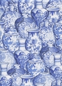 GINGER JARS: Delft Blue (By the Half Yd.)