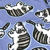 "Handkerchief with Adorable Cat Design - Blue (12 1/2"" Square)"