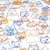 "Handkerchief with Adorable Cats: White (20"" Square)"
