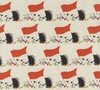 Hedgehog Circus Parade - Natural - Cotton/Linen Canvas