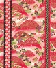 Hills of Flowers: Red/Gold (1/2 Yd.)