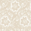 ICED TEA COLLECTION: Cream Blossoms & Vines (1/2 Yd.)