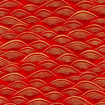 IMPERIAL WAVES: Crimson/Gold Metallic Tonal